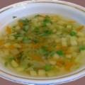 Суп картофельный с зелёным горошком в мультиварке