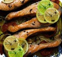 Цитрусовый лосось в мультиварке
