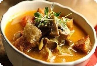 Картофельный суп с говядиной в мультиварке