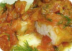 Филе морского языка с картошкой в мультиварке