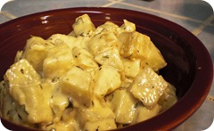 Картофель в соусе «Бешамель» в мультиварке