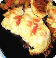 Картофельные лодочки с начинкой в мультиварке