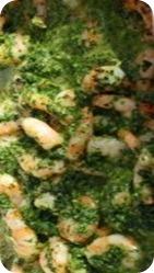 Креветки в зеленом соусе в мультиварке