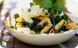 Макароны с зеленой фасолью в мультиварке