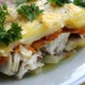Пангасиус с картофелем и помидором в мультиварке