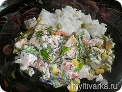 Паровой салат в мультиварке