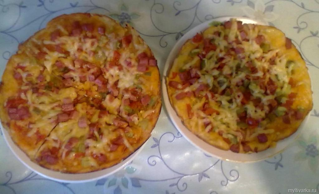 Пицца в мультиварке рецепт с пошаговый