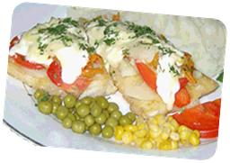 Рыба с помидорами в сметане в мультиварке