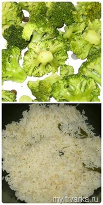 рис и брокколи в мультиварке редмонд 4502