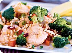 Рис с креветками и капустой брокколи в мультиварке