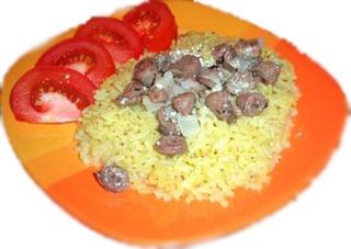 Рис с куриными желудками в мультиварке