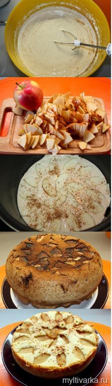 Шарлотка с яблоками пошаговый рецепт с в мультиварке редмонд