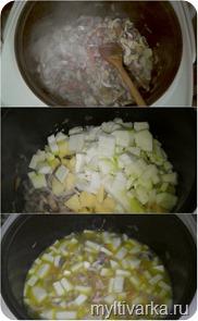 Суп грибной с беконом в мультиварке