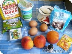 Творожно-персиковый пирог в мультиварке